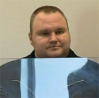 Kim Dotcom at his hearing.