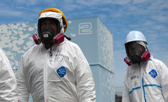 Investigators visiting the Fukushima Daiichi nuclear power plant in May 2011.