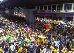 Bersih rally in Malaysia.