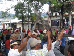 Farmworkers' protest in Honduras.