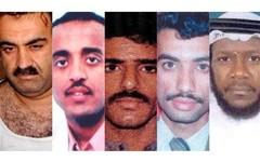 Khalid Sheikh Mohammed, Ramzi bin al-Shibh, Walid bin Attash, Ali Abdul Aziz Ali, Mustafa al Hawsawi