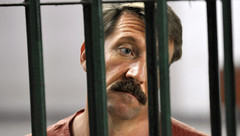 Viktor Bout behind bars in a Thai prison