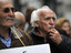 Greek pensioners attend a march in central Athens, protesting new austerity cuts.
