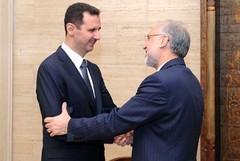 El presidente Al-Assad y FM iraní Salehi