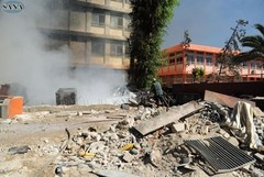 Bomb attack on the Martyrs' Sons school in Damascus