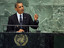 Obama during his UNSC speech