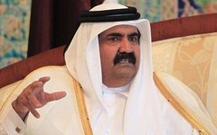 Qatar's dictator Sheikh Hamad bin Khalifa Al-Thani