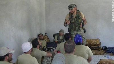 Libyan Mahdi al-Harati, Libyan Islamic Fighting Group (LIFG), addressing fellow terrorists in Syria