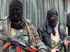 Jihadist fighters in Syria