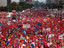 Over three million Chavez supporters flooded the streets of Caracas on October 4