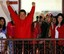 President Chavez after winning the October 7 elections