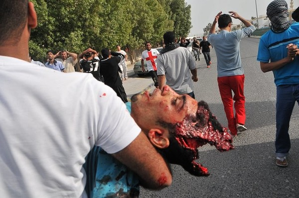 Bahrain protester shot dead