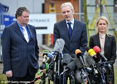 Mark Stephens, Julian Assange and Jennifer Robinson
