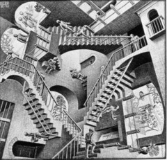 The relativity of our own truths (drawing by M.C. Escher)