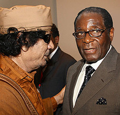 Gaddafi and Mugabe