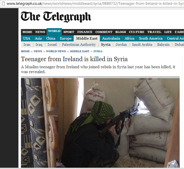 Syria jihadists Ireland